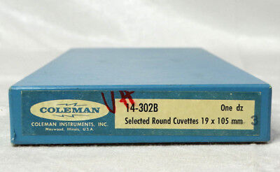 Vintage Coleman Selected Round Cuvettes 19x105mm Qty 12 14-302B
