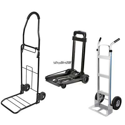 500/110lbs Aluminum Base Foldable Hand Truck Luggage Industrial Heavy Duty Cart