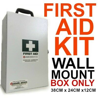 EMPTY First Aid KIT metal wall mount box medical 38x24x12cm With KEY LOCKABLE