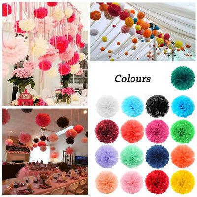 Pack of 5 Tissue Paper Pom Poms for Weddings, Christmas & Party Decorations-8''