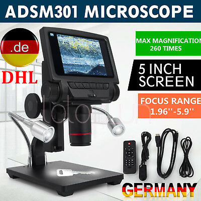 Andonstar ADSM301 5 Inch Screen HDMI Digital USB Microscope for Repair Tool DHL