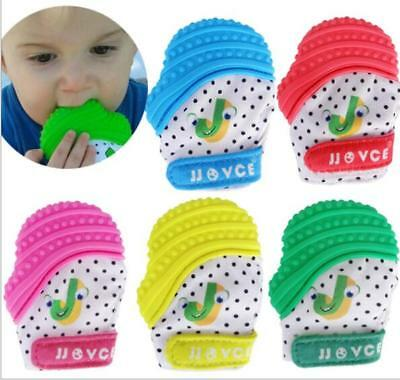 UK Silicone Baby Mitt Teething Mitten Teething Glove Candy Wrapper Sound Teether