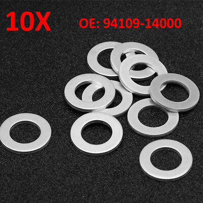 10X 14mm Oil Drain Plug Crush Washer Gaskets 94109-14000 For Honda Accord Acura