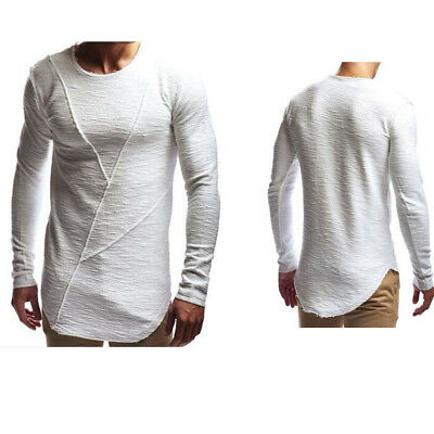 Men Casual Long Sleeve Solid Tee Slim Fit Tops Snowflake Blouse T-Shirt TP
