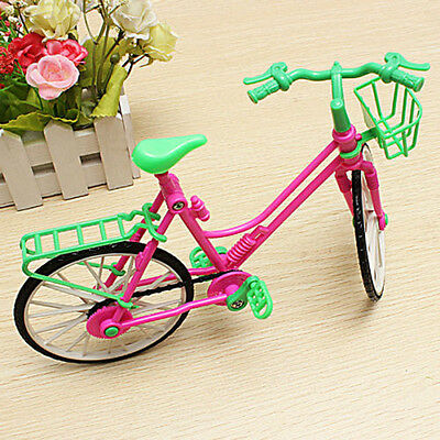 Cute Pink Bicycle Detachable Bike Toy Accessories for Barbie Doll Play House AU