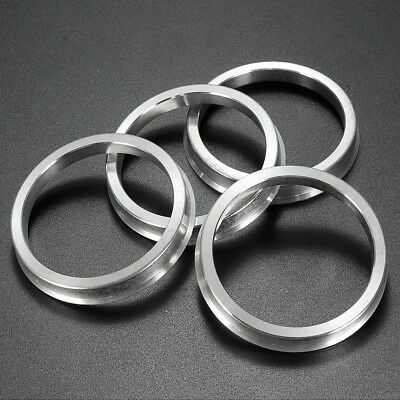 4x 66.6-57.1 Aluminum Spigot Reducer Rings For VW SEAT AUDI MERCEDES Alloy Wheel