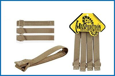 Maxpedition TacTie Attachment Straps 3 inch Khaki Pack of 4 9903K