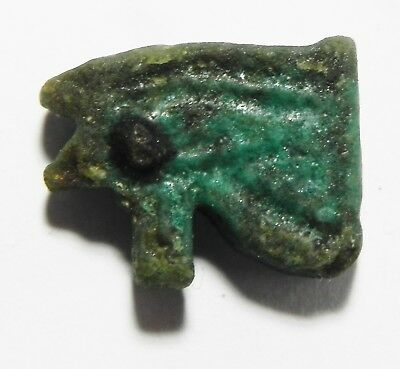 Zurqieh -As3484- Ancient Egypt, Faience Eye Of Horus Amulet. 600 - 300  B.c