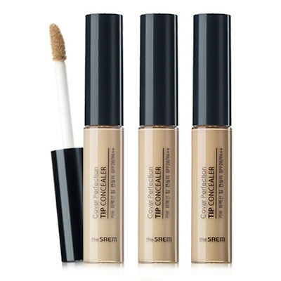 THE SAEM / Cover Perfection Tip Concealer / with Free Sample / Korean Cosmetics