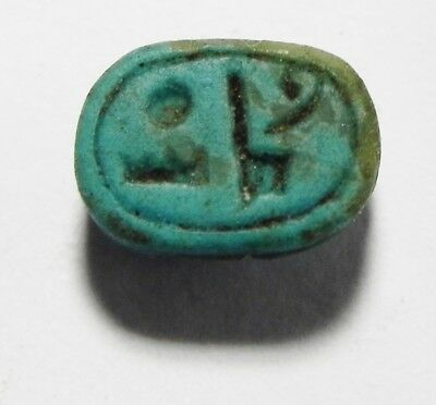 Zurqieh -As3488- Ancient Egypt, Glazed Stone Scarab . New Kingdom. 1400 B.c