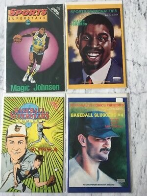 SPORTS SUPERSTARS Personalities Magic Johnson Cal Ripken Mattingly Comics VF