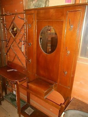 Antique Arts and Crafts Oak Hall Stand C 1910