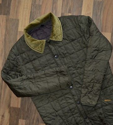 Men's Barbour Retail Liddesdale Quilted Jacket Large L Olive Green