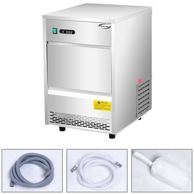 70lbs/24h Stainless Steel Automatic Commercial Ice Maker LED Display Machine 1PC
