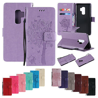 For Samsung Galaxy Note 9/S9 + Flip Leather Card Wallet Stand Pattern Case Cover