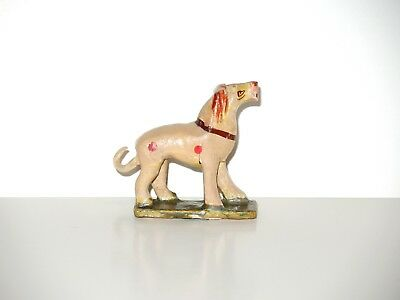 Antique Victorian Carved Wood Hand Painted Toy Lion ~ From Old Noah's Ark Set