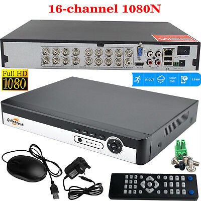 16CH Channel 1080P AHD DVR NVR XVR 5in1 HDMI CCTV Security Video Recorder System
