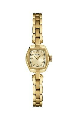 Bulova Women's 97L155 Quartz Champagne Dial Gold-Tone Bracelet 18mm Watch