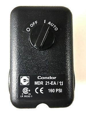 Mdr21-Ea/11 Condor Pressure Switch 4 Port W/ Unloader & On-Off Lever
