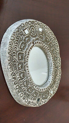 Handcrafted Vintage Ceramic Wall Decorative Mirror Oval