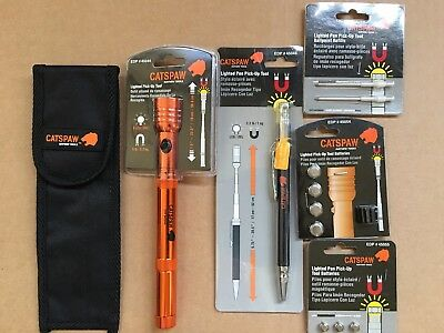 Mayhew Catspaw Lighted Pick-Up Tools and Accessories Bundle