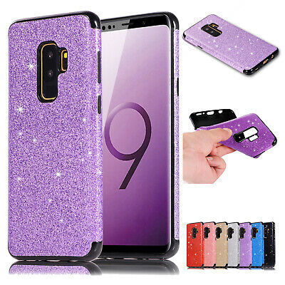 Glitter Bling Soft Rubber Shockproof Case Cover For Samsung Galaxy S7/S8/S9 Plus
