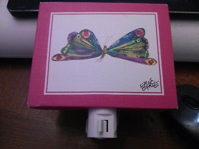Oopsy Daisy Eric Carle Butterfly Night Canvas Art Night Light