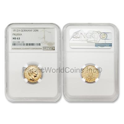 Germany 1912-A Prussia 20 Mark Gold NGC MS63 SKU#5959