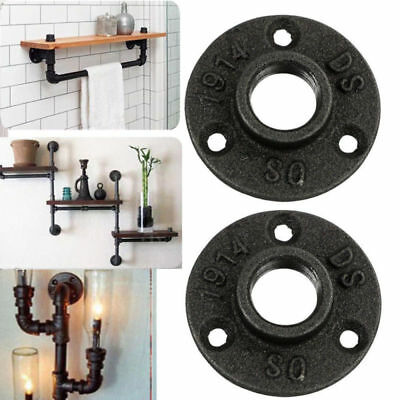 US 10Pcs 3/4'' Malleable Threaded Floor Flange Iron Pipe Fittings Wall Mount