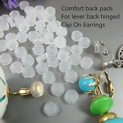 Comfort Cushions Pads for CLIP ON EARRINGS Clear Soft Silicone Small