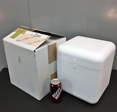 Styrofoam Cooler/Container & Shipping Box 6.5x6x8 Insulated Mailer