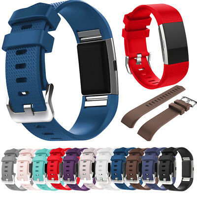 Silicone Watch Strap Wrist Sports Band For Fitbit Charge 2 HR /Charge 2 Watch