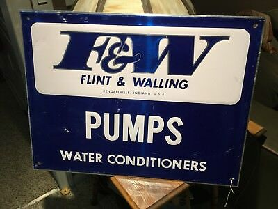 F&W Flint & Walling Pumps Water Conditioners Metal Sign