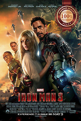 New Iron Man 3 Three Iii Ironman Film Movie Original Cinema Print Premium Poster