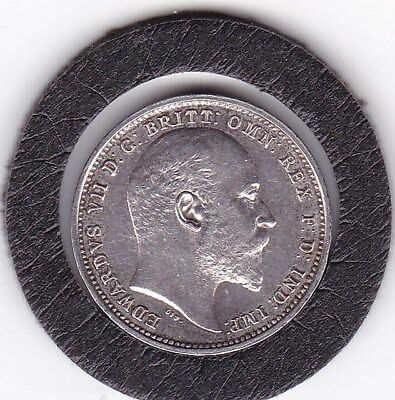 Very  Sharp  1905  King  Edward  VII  Maundy  Four  Pence  (m4d)  Silver  Coin