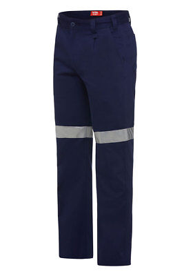 Hard Yakka BASIC DRILL WORK PANT 280GSM WITH TAPE Reflectec Tape Y02540