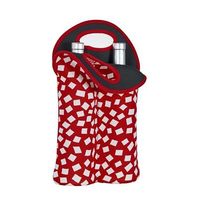 BUILT NY - Wine Cooler  Bag - Double Bottle - Red Confetti -  Wine Tote