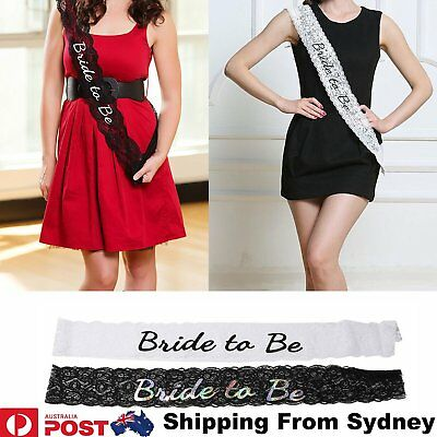 Bride To Be Lace Sashes Sash Hens Night Party Engagement Bridal Bachelore Colour