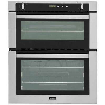 Stoves SGB700PS Built Under 60cm B/A Gas Double Oven Stainless Steel New from