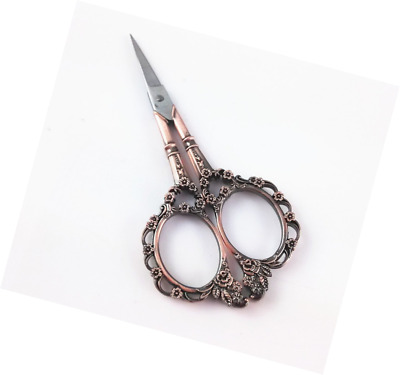 Yueton Vintage European Style Plum Blossom Needlework Embroidery Scissors (Coppe