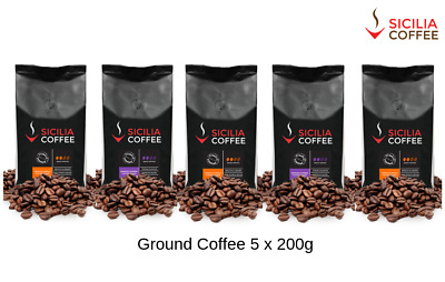 1kg GROUND Coffee Special, 5 x 200g packets, 2 Great Varieties FREE POSTAGE