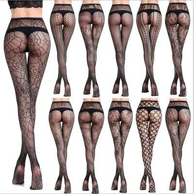 Women Sexy Fishnet Tights Jacquard Pantyhose Yarns Net Stockings Lingerie*