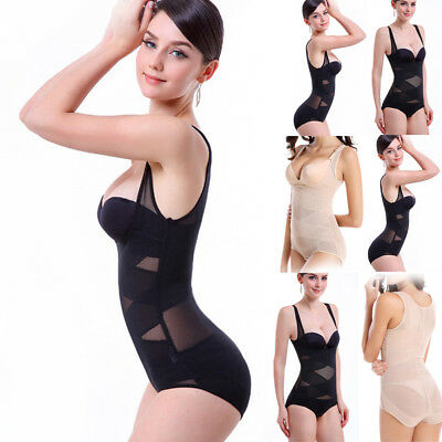 Women Waist Trainer Cincher Underbust Corset Tummy Training Body Shaper M-4XL