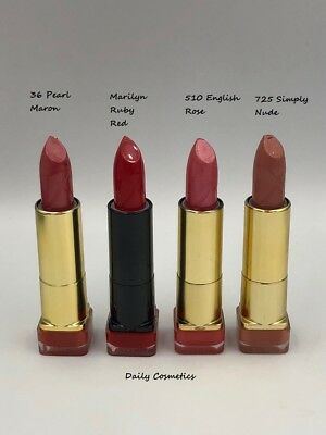 Max Factor Colour Elixer Lipstick 10 Shades