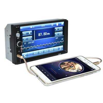 "Doppio DIN 7.0"" HD Bluetooth Car Autoradio Stereo FM AUX W/Remote USB MP5 Player"