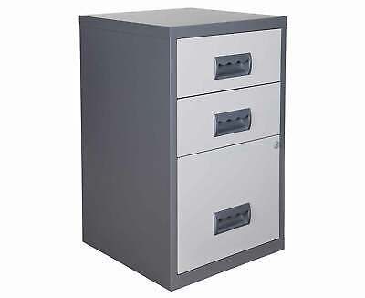 Pierre Henry 3 Drawer Combi Filing Cabinet Silver A4