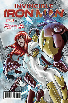 Marvel Invincible Iron Man #8 Mary Jane Variant First Print