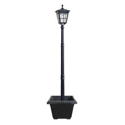 Kemeco ST4311AHP 6 LED Cast Aluminum Solar Lamp Post Light with Planter for Yard