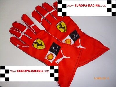 Kimi Raikkonen  gloves (FAN/KART DESIGN)