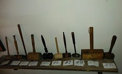 Vintage Wooden Auctioneer/Judge Gavels//Hammers& Mallets (PICK ONE OR MORE!)